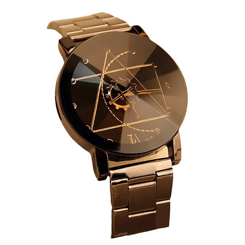 (Bateau à partir de US) 2017 Mode de Haute Qualité Hommes Montres En Acier Inoxydable Bande Horloge De Luxe Homme Quartz Analogique Montre-Bracelet de Vente Chaude
