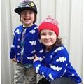 Marca Do Bebê Das Meninas Dos Meninos Camisola Cardigans Meninos Da Criança O-pescoço Camisola Morna Casacos Malhas de Algodão Roupa das Crianças
