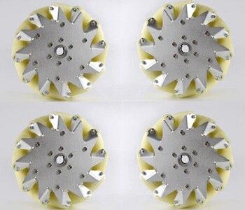 UM conjunto de 203 milímetros De Alumínio Mecanum Roda (4 peças) 14128