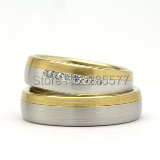 Best Two Tone Anium Wedding Band Engagement Rings Sets Jewelry For Men And Women Trauringe Anel Ouro