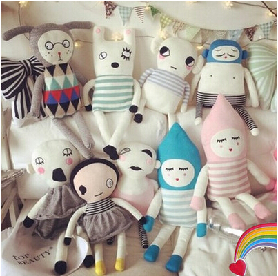50 70cm Genuine ins hand knitted doll with a high end doll plush toy