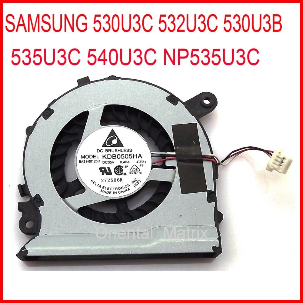 все цены на Free Shipping KDB0505HA-CE21 BA31-00125C 5V 0.4A For SAMSUNG NP535U3C 530U3C 532U3C 530U3B 535U3C 540U3C CPU Cooling Fan онлайн