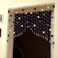 DIY ротанга Шар занавес украшенный камнями декоративные двери занавес s бусины разделитель комнаты жалюзи на окно ролик дверь прохода фон