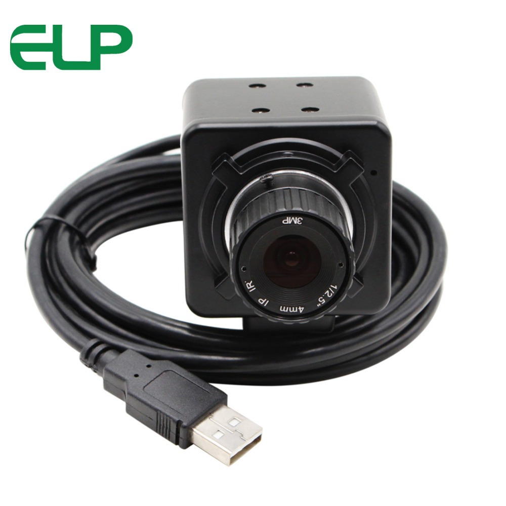 Black White 2MP HD High Speed free driver 6mm manual focus lens USB Webcam 1080P android