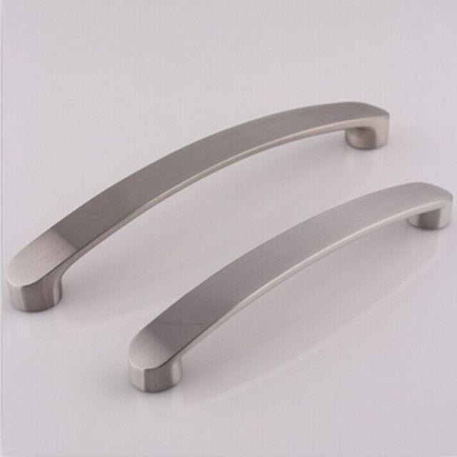 128mm modern simple furniture handles stain silver kitchen cabient ...