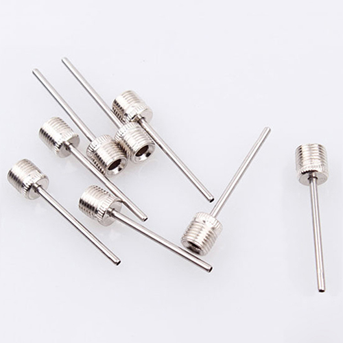 20 Pcs Sports Ball Inflating Pump Needle Pin Nozzle Football Basketball Inflatable Air Valves Adaptor Stainless Steel Pump Pin