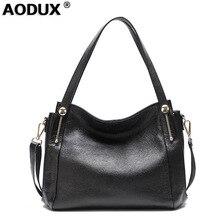 2018 Genuine Leather Women Shoulder Bag Messenger Tote Handbag Ladies Casual Real Cowhide Large Fashion Designer Shopping Bags