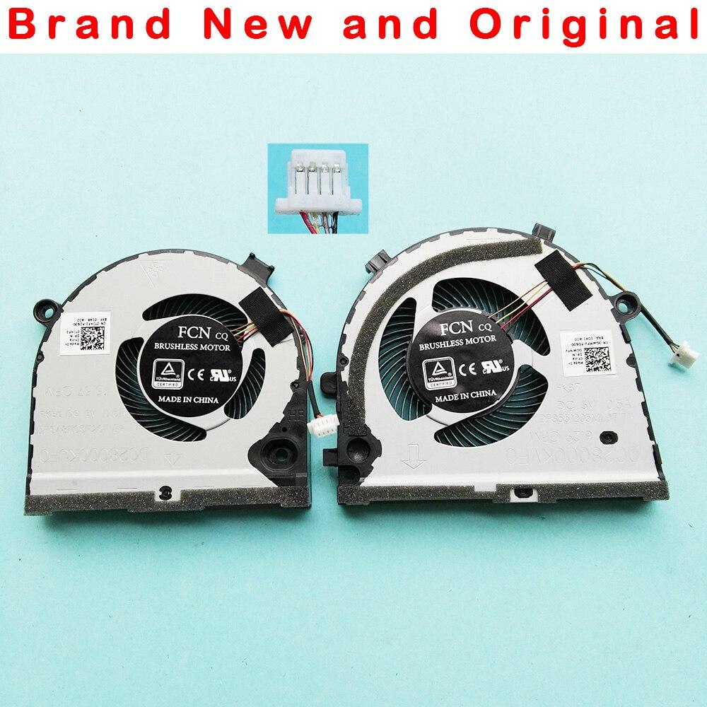 Novo orignal cpu gpu ventilador para dell g3 G3-3579 3779 g5 5587 15 5587 série ventilador de refrigeração cooler 0tjhf2 tjhf2 0 gwmfv gwmfv