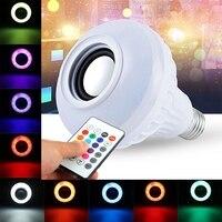 E27 Smart RGB RGBW Wireless Bluetooth Speaker Night Light Music Playing Dimmable LED Bulb Light Lamp