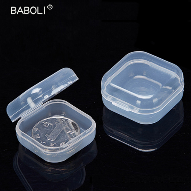 5pcs Lot Clear Lidded Mini Square Plastic Earplug Box For Storage Small Parts Tool Jewelry Case Beads Container Packaging