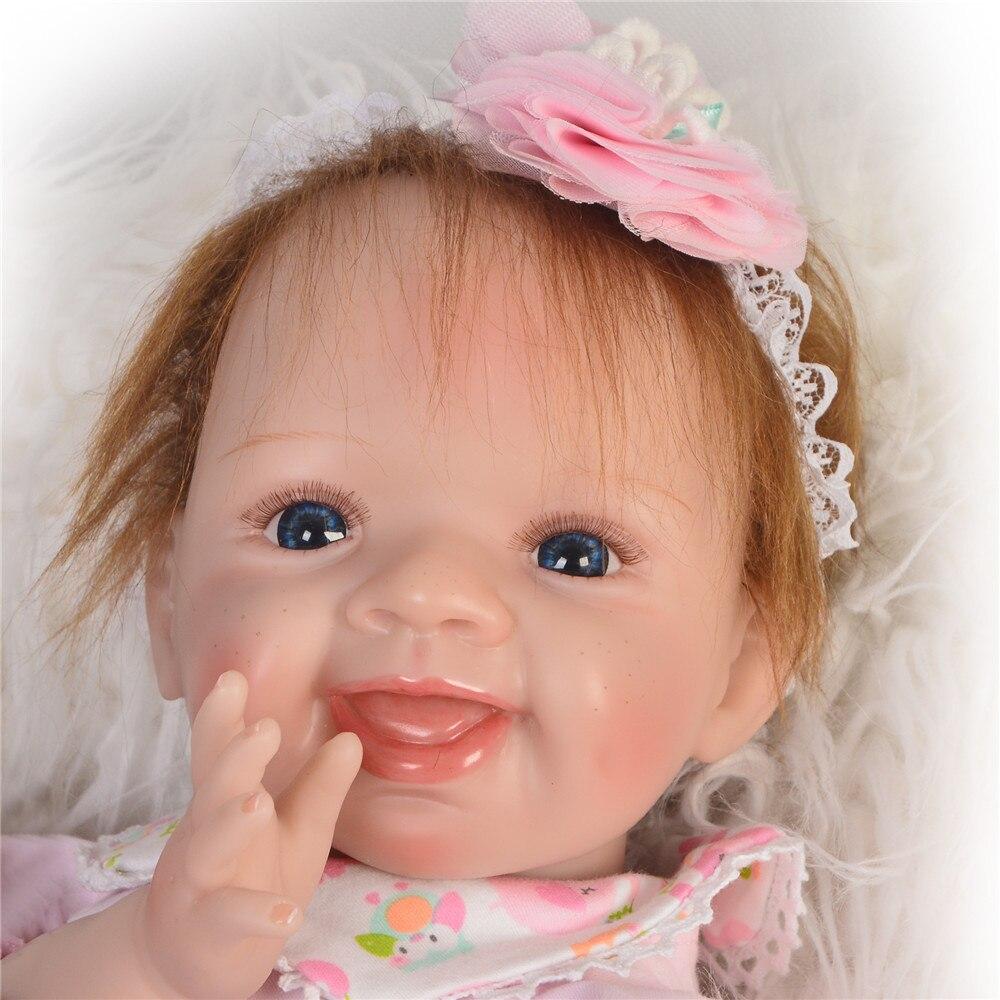 Bebe boneca Reborn 55 cm Silicone Reborn bébé poupées réel vivant fille nouveau né poupée bebe cadeau Reborn poupee enfant jouets