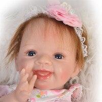 Bebe boneca Reborn 55cm Silicone Reborn Baby Dolls real alive girl Newborn Doll bebe Gift Reborn poupee enfant toys