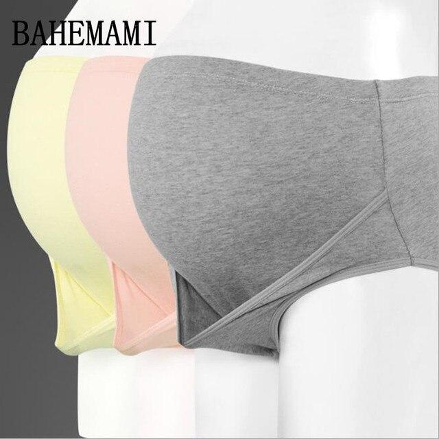 BAHEMAMI 3PCS/Lot cotton Pregnancy Panties Maternity Women Underwear Panties pregnant women clothe High waist Briefs 2018 new