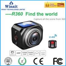 Freeshipping 2017 R360 видеокамера 30 М водонепроницаемый wi-fi спорта camera30fps HD 1920*1440 запись петли Поддержка Android и Apple APP