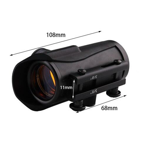 caca holografica 1x30mm red dot sight com