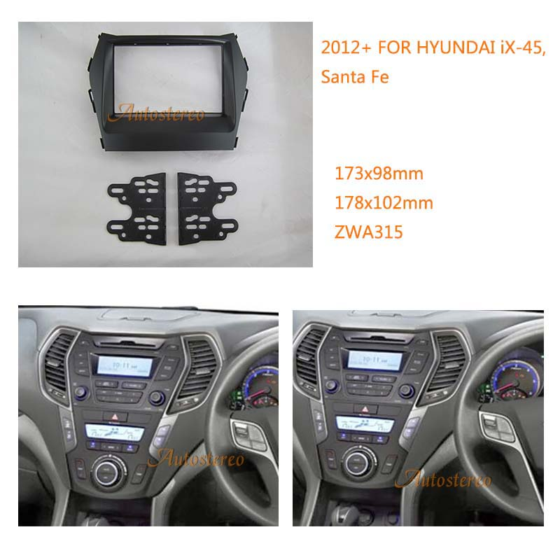 Online Shop Car Radio Fascia Multimedia Frame Kit For Hyundai Ix45 Rhmaliexpress: Hyundai Santa Fe Radio Bezel At Gmaili.net