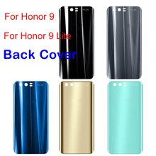 Housing Case for Huawei Honor 9 Back Glass Battery Cover Rear Door Panel For Honor9 Lite Honor 9 Back Glass Cover Replacement door housing case for huawei honor 8 lite honor 8 battery cover back glass battery cover for honor8 lite rear panel replacement