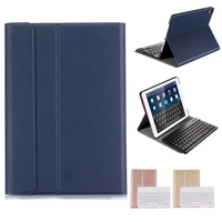 New 2018 For iPad 9.7 A1822 High Quality Ultra thin Detachable Wireless Bluetooth Keyboard Case cover For ipad 5 ipad6 ipadpro