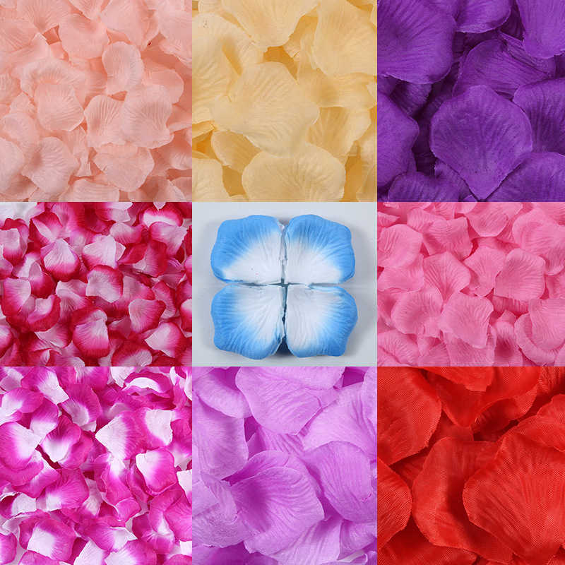 100pcs/pack Romantic Artificial Rose Flower Silk Rose Petals for Party Event Valentines Day Wedding Decoration Favors