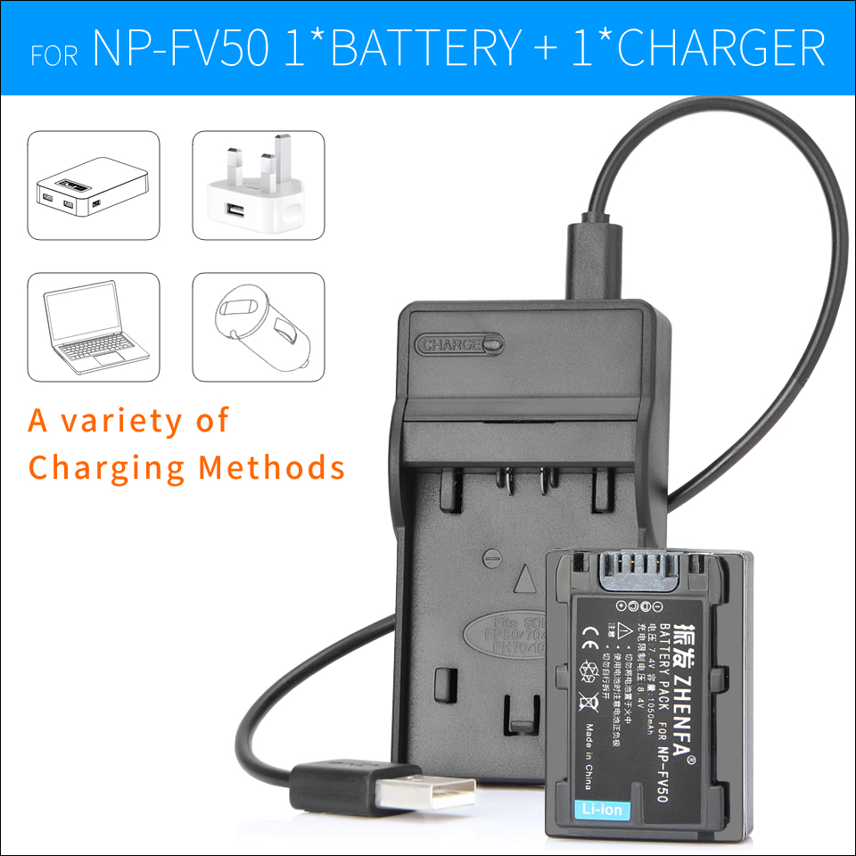 NP FV50 NP FV50 Battery Charger For Sony HDR CX200 HDR CX220 HDR CX180E HDR CX110