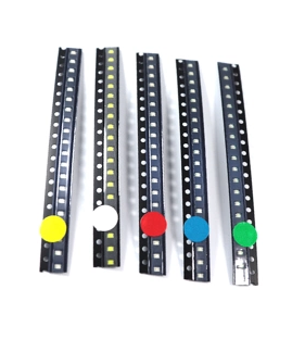 100pcs 1210 LED Diode Assortment SMD LED Diode Kit Green/ RED / White / Blue / Yellow 3528 LEDs For TV Backlight Diy Electronic