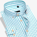 Classic Plaid Men 100% Cotton Oxford Casual Shirts Long Sleeve Brand Fashion Formal Male Dress Shirt 4XL High Quality