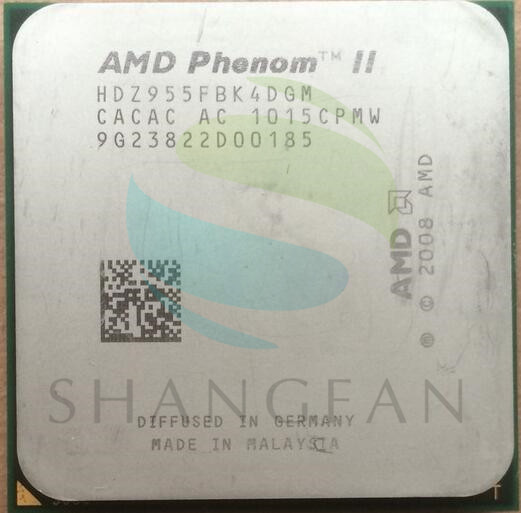 AMD Phenom II X4 955 125W Quad-Core DeskTop CPU HDZ955FBK4DGM HDZ955FBK4DGI Socket AM3