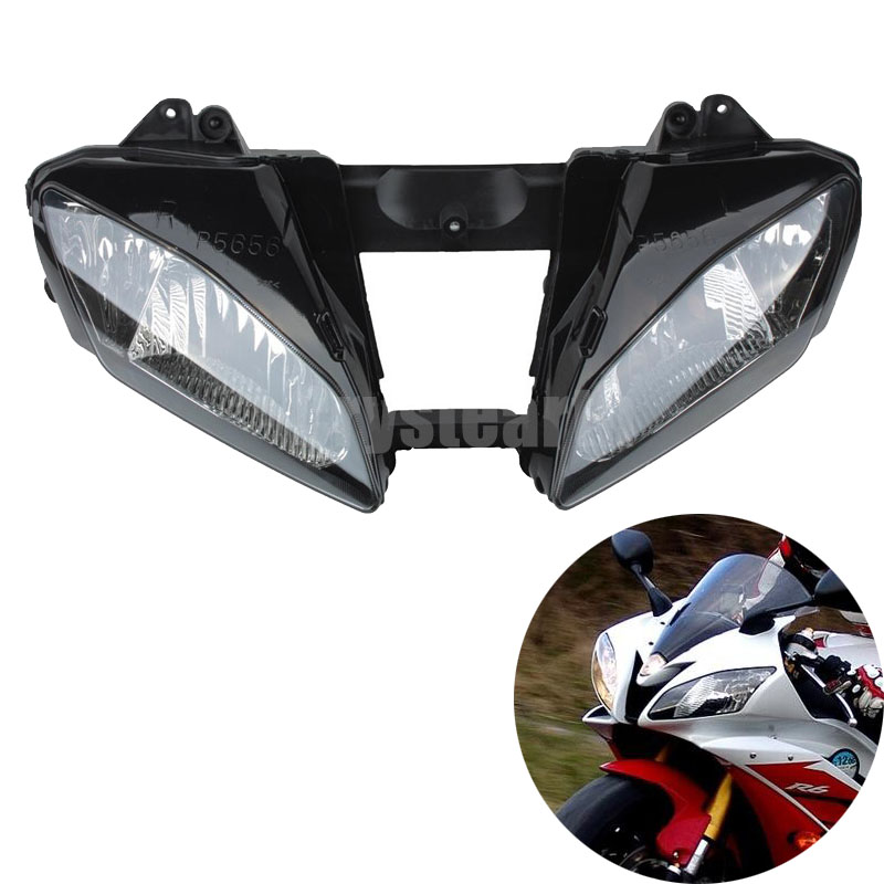 Motorcycle Racing Front Headlight Head Light Headlamp Housing Assembly For Yamaha YZFR6 YZF R6 YZF-R6 2006 2007 motorcycle front fender fairing mud guard for yamaha yzf r6 yzfr6 2006 2007 yzf600 yzfr6 06 07 individual motorcycle fairings