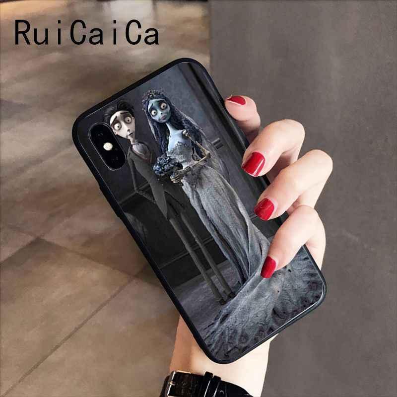 RuiCaiCa טים ברטון של חתונת רפאים TPU שחור טלפון מקרה מעטפת עבור iPhone X XS מקסימום 6 6S 7 7 בתוספת 8 8 בתוספת 5 5S XR