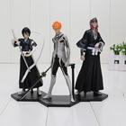 3pcs/set 16cm Bleach Kurosaki ichigo Kuchiki Rukia Abarai Renji PVC Action Figures Collectible Toys Bleach Figure