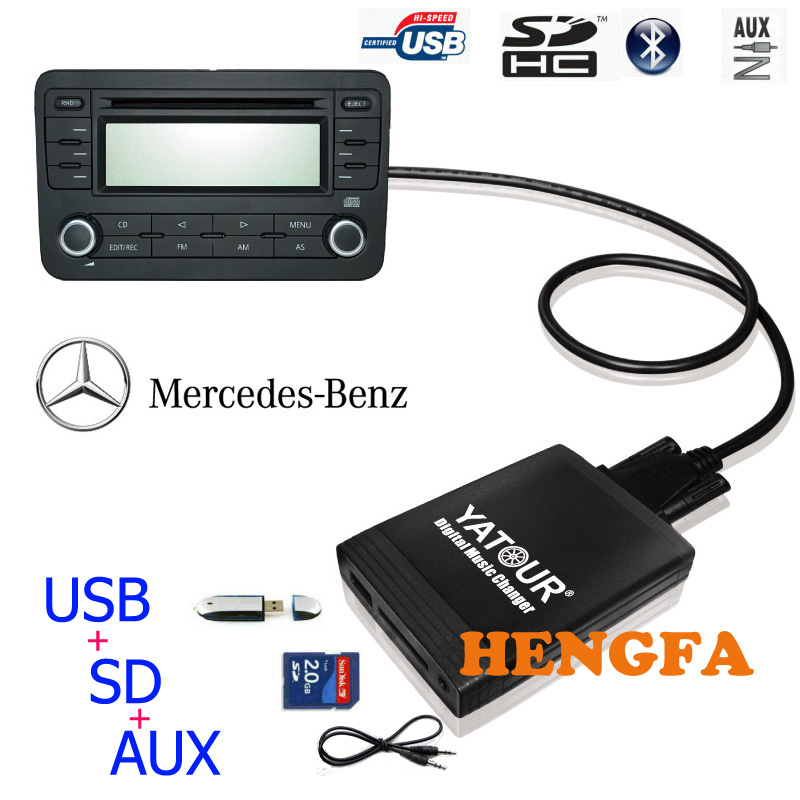 ФОТО Yatour Car Digital  Music Changer USB MP3 AUX adapter for Benz 10-pin 1994-1998 W140 W202 W210 yt-m06