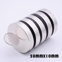 2/5pcs Neodymium magnet 50x10mm N35 Super strong round magnet Rare Earth NdFeb 50*10mm strongest permanent powerful magnetic