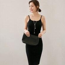 Европейский стиль эластичные трикотажные платья женщин 2017 модные пикантные летние без Рукавов плечевой ремень тонкий карандаш женщина платье B96