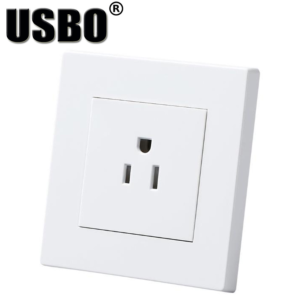 White 110/250V 15A CE Certification American standard panel outlet ...