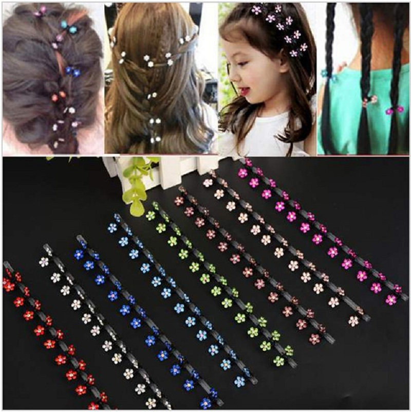 New Hair Clip Bridal Flower Crystal Rhinestone Accessories Mini Hair Claw Snowflake Wedding Party Hair Clip for Girls 6 Pcs halloween party zombie skull skeleton hand bone claw hairpin punk hair clip for women girl hair accessories headwear 1 pcs