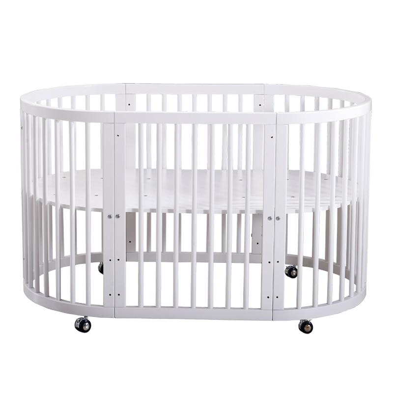 Getrouw Babyfond Ronde Baby Bed Massief Hout Multifunctionele Bb Bed Ronde Bed Twin Milieuvriendelijk Europese Een Bed 9 Modus Van Gebruik