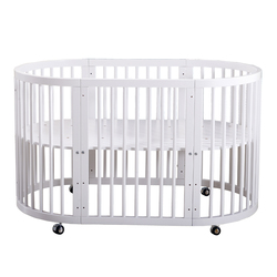 Babyfond cama redonda para bebé de madera maciza Multi función Bb cama redonda doble respetuosa con el medio ambiente europea una cama 9 modo de uso