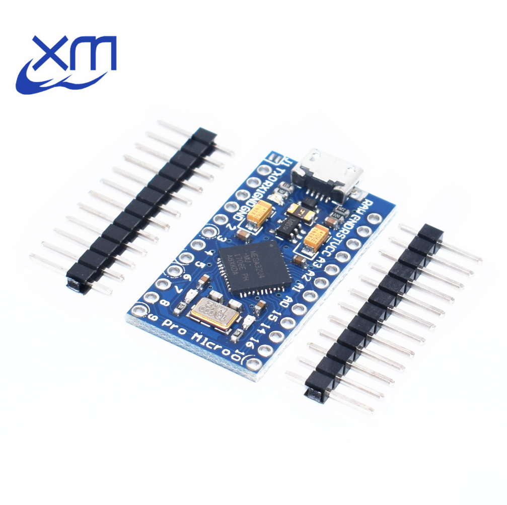 Free Shipping New Pro Micro ATmega32U4 5V 16MHz Module with 2 row pin header 10PCS For