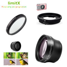 2X magnification Telephoto Lens & UV Filter Adapter Ring for Olympus TG-6 TG-5 TG-4 TG-3 TG-2 TG-1 TG5 TG4 TG3 TG2 TG1 Camera(China)