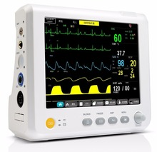 Free Shipping CE&FDA 8 ICU/CCU Multi-Parameter Vital Signs Patient Monitor Medical Equipment
