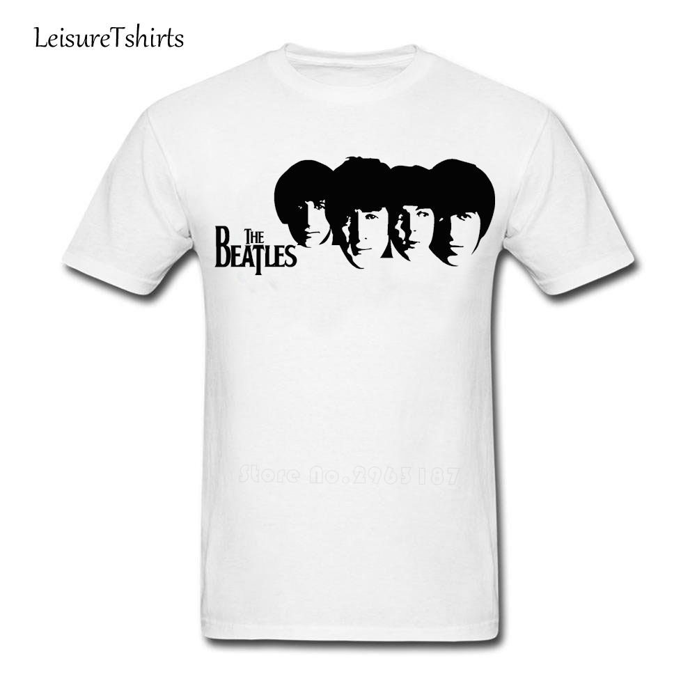 White t shirt for design - The Beatles Men T Shirt Guy Summer O Neck Graph Tshirt Teenboys New Oversize Tshirt Design Customized Loose T Shirt For Dad