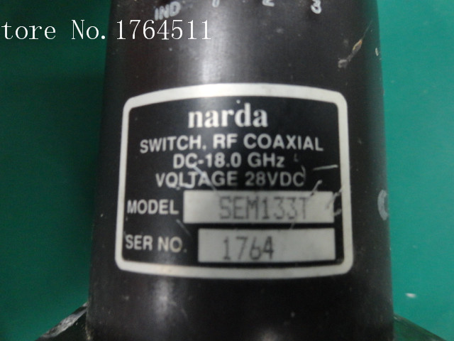 [BELLA] Narda SEM133T DC-18GHZ Single Pole Three Throw RF Coaxial - 28V SMA
