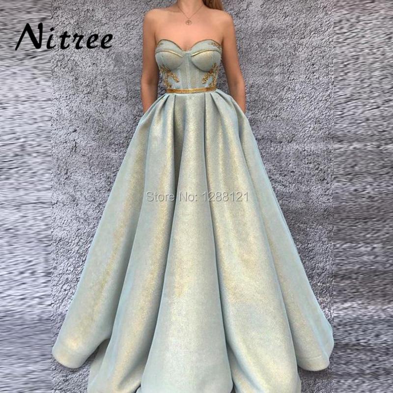 2018 Newest Luxury Evening Dresses Robe de soiree Arabic Dubai ...