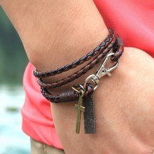 Most Incredible Price! Manufacturers Wholesale Fashion 3 Layer Pu Leather Bracelet, Best Gift Free Shipping цены онлайн