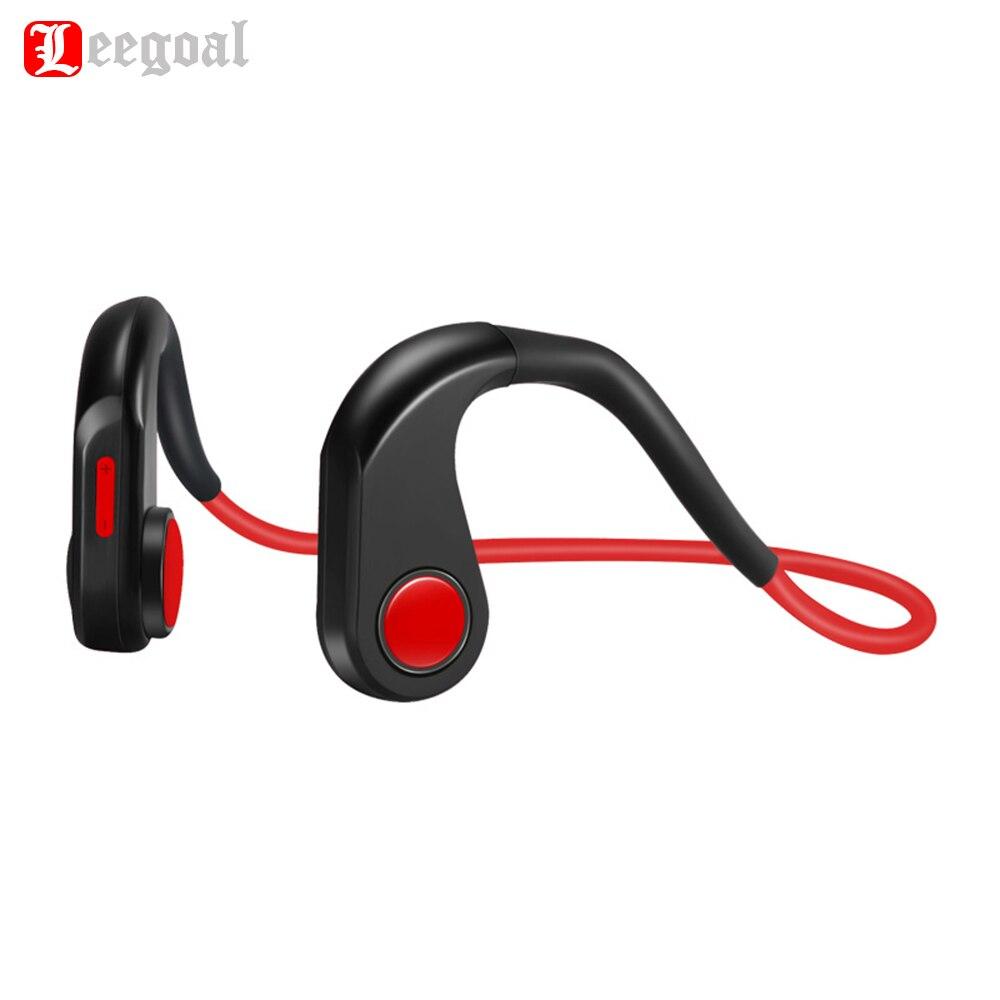 Leegoal BT-DK Auricolari Bluetooth Senza Fili Conduzione Ossea Cuffie Sport Impermeabili Cuffie di Riduzione Del Rumore con Il Mic