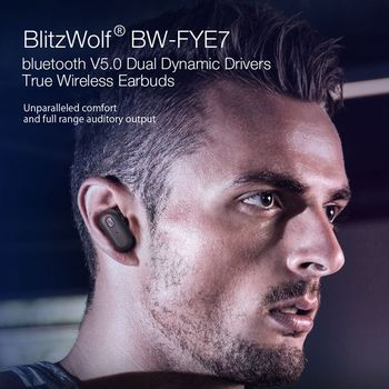 [Dual Dynamic Driver] Blitzwolf BW-FYE7 TWS Bluetooth V5.0 In-ear Earphone Bass Stereo Bilateral Call Earbud Wireless Headphones 1