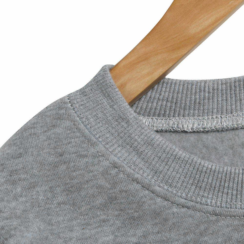 Dropship Casual Kadın Bluz Uzun Kollu O Boyun Geyik Baskı Kazak Moda Kadınlar Kızlar Spor Üstleri Kız Bluz 0309