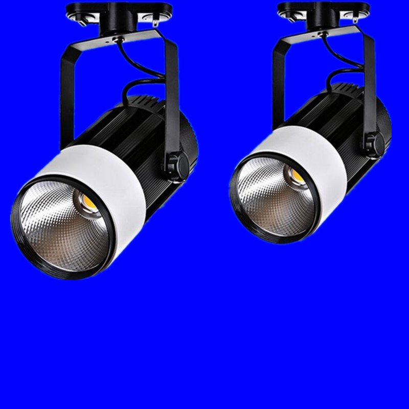 AC85V-265V 10W 20W 30W COB LED track light 35W COB track light, clothing store track spot lighting high bright 12pcs led track light50wled exhibition hall cob track light to shoot the light clothing store to shoot the light window