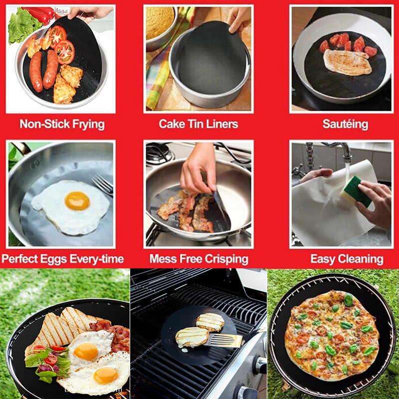 Universal Pot Cover Kompor Pelindung Penutup Mangkuk Microwave Silikon Piring Aksesoris Dapur Memasak Lembar Pad BBQ Baking Tikar