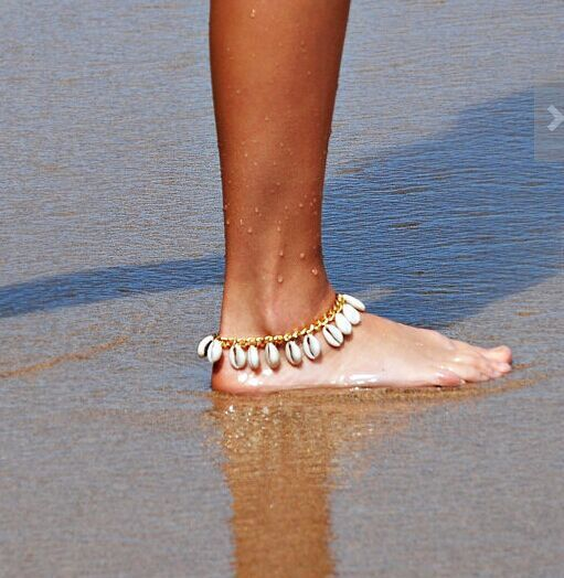 Vintage Statement Gold Chain Ankle Bracelet Natural Shell Bohemian Anklet Women Foot Jewelry Summer Beach Holiday Accessories
